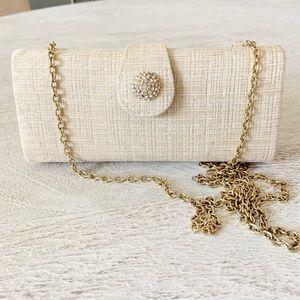 Precious Vintage Cream Brocade Evening Bag